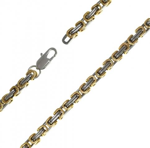 При изготовлении мужских стальных цепочек используются самые современные способы